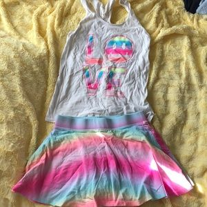 Children's Place tank top and matching shirt